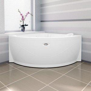 АЛЬТЕЯ ванна гидромассажная 1250х1250 форсунки белые, фронт. панель, каркас, слив-перелив
