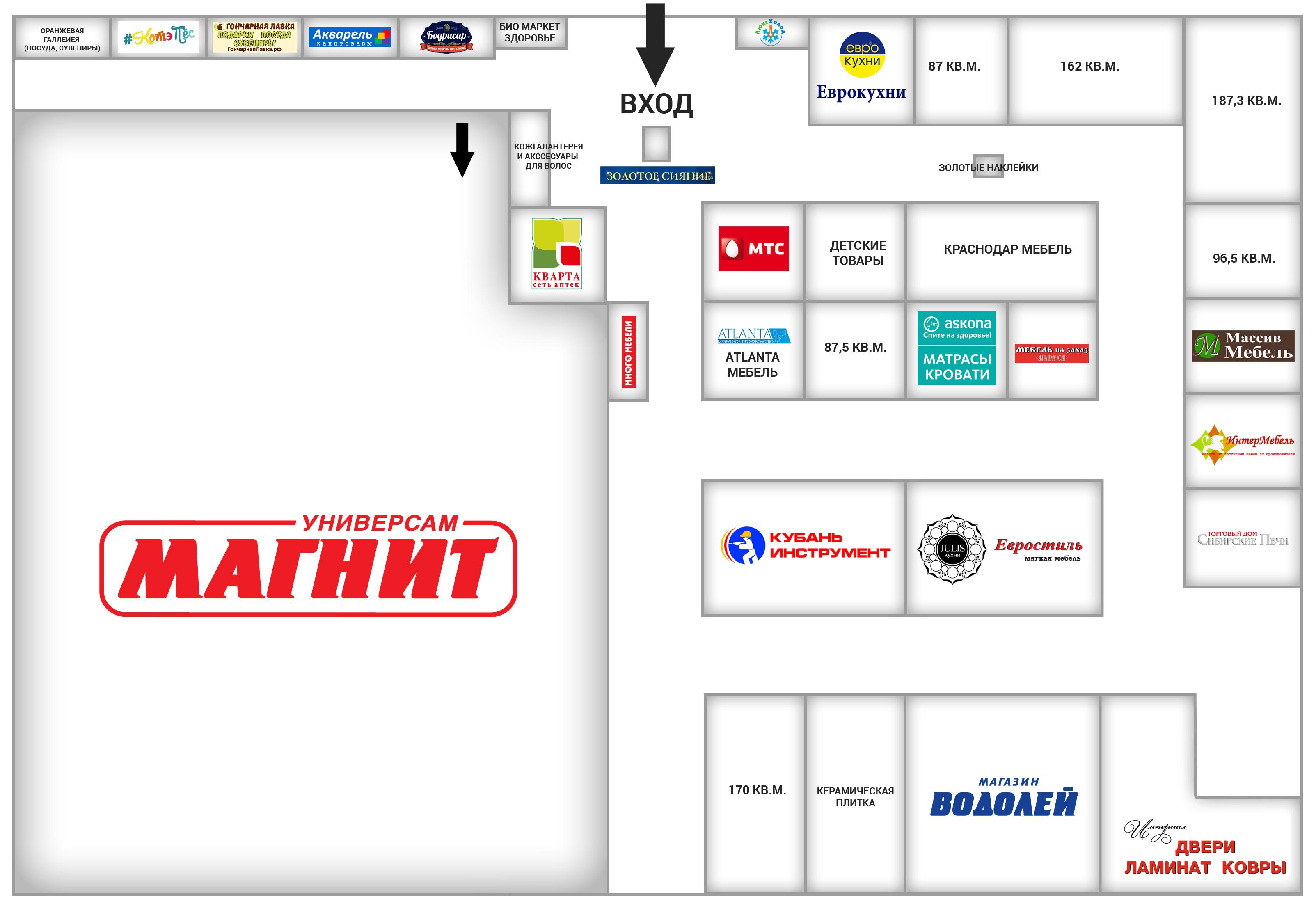 Торговый центр Западный – аренда торговых площадей в Краснодаре. Сдаются в аренду торговых площадей в торговых центрах Краснодара